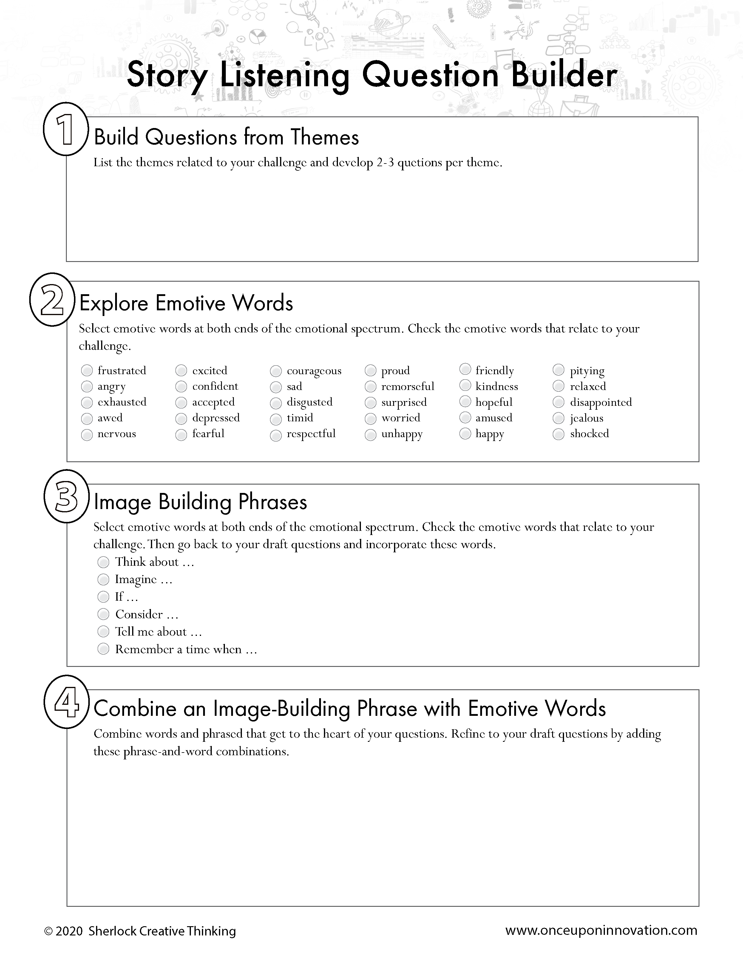 Story Listening Question Builder